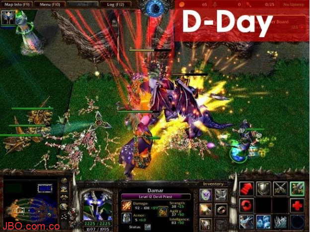 Game D- Day trong map warcraft 3